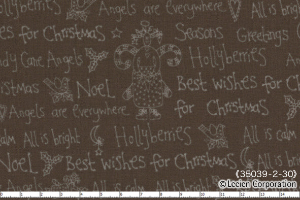 Quilting Fabric Lynette Anderson Candy Cane Angels 35039-80