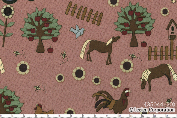 Quilting Fabric Lynette Anderson Mending Fences by Lecien # 35044-20