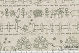 Quilting Fabric Lynette Anderson Mending Fences by Lecien # 35045-10