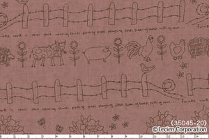 Quilting Fabric Lynette Anderson Mending Fences by Lecien # 35045-20