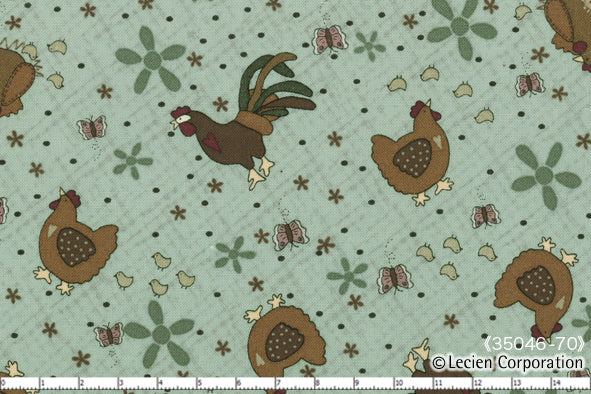 Quilting Fabric Lynette Anderson Mending Fences by Lecien # 35046-70