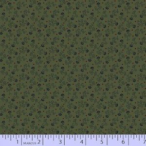 Quilting Fabric Antique Cotton Green by Marcus Fabrics