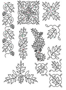 Linda's Electric Quilters Pantograph: Pattern Packet 40 Autumn Leaves