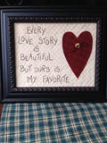 Love Story Embroidery Kit by The Good Life
