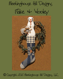 Wool Art Flake & Wooley Pattern by Meetinghouse Hill Designs
