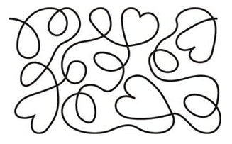 Linda's Electric Quilters Pantograph: Hearts & Loops