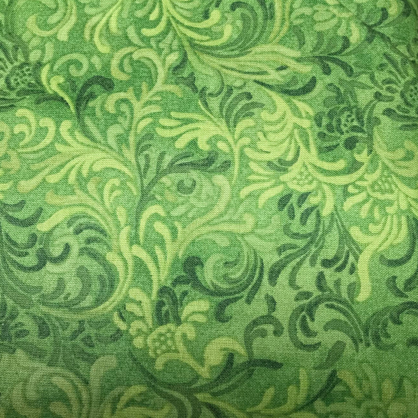 Contemporary Sewing Green Swirl Wideback