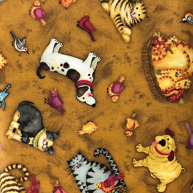 Quilting Fabric Pals at Play-Brown by SPX Fabrics