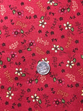 Quilting Fabric Among The Flowers Red by Red Rooster