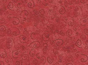 Quilting Fabric Cottage Basics-Red by Terri Degenkolb of Whimsicals