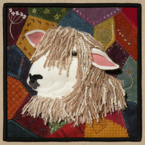 Wool Art Sew Crazy for Ewe Pattern by Meetinghouse Hill Designs