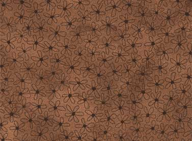 Quilting Fabric Sew Nice to Be Home-Dark Brown by Red Rooster