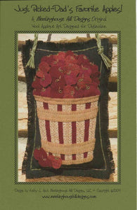 Wool Art Just Picked-Dad's Favourite Apples Pattern by Meetinghouse Hill Designs