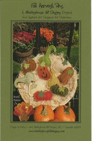 Wool Art Fall Harvest Pins Pattern by Meetinghouse Hill Designs