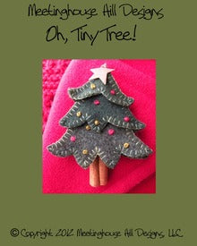 Wool Art Oh, Tiny Tree! Pattern by Meetinghouse Hill Designs