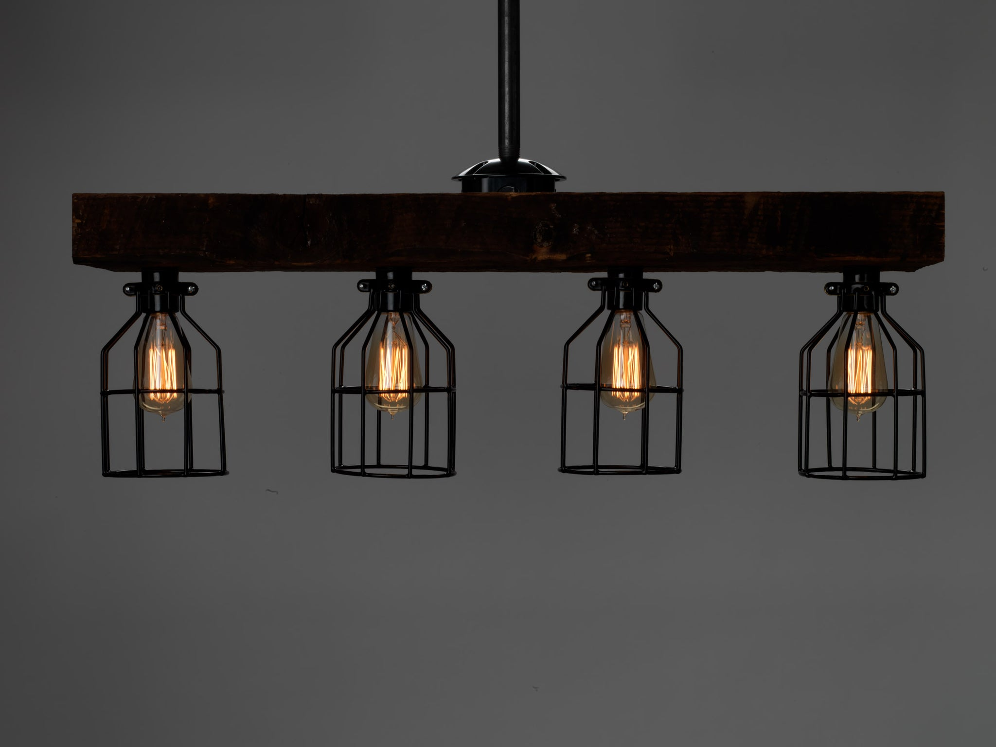 reclaimed lighting. 100 Year Old Reclaimed Wood Beam Light With Cages Lighting