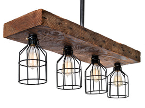 reclaimed lighting. 100 Year Old Reclaimed Wood Beam Light With Cages Lighting A