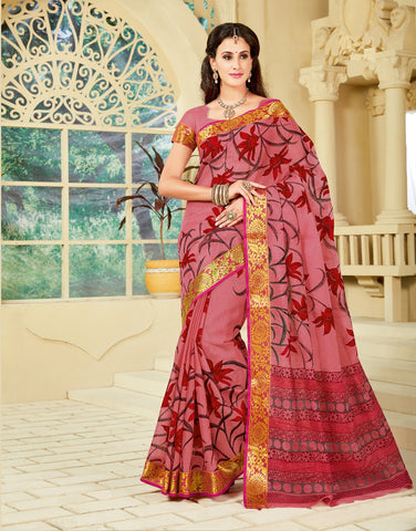 Designer Party Casual Wear Printed Multi Colour Cotton Saree By Takshaya