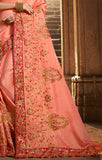Designer Pink Art Silk Embroidered Saree