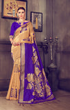 Takshaya Partywear Gold Art Silk Weaving Saree