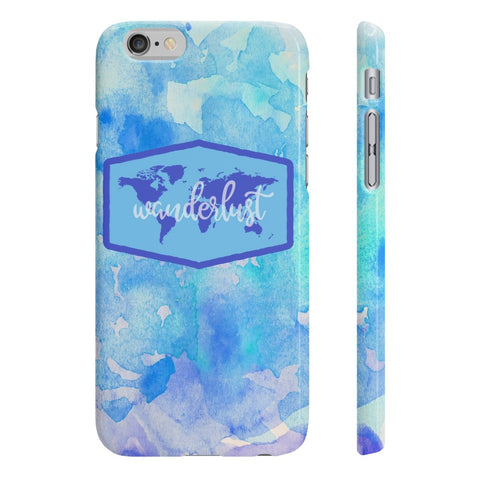 Wanderlust Slim Phone Case - Blue/Purple