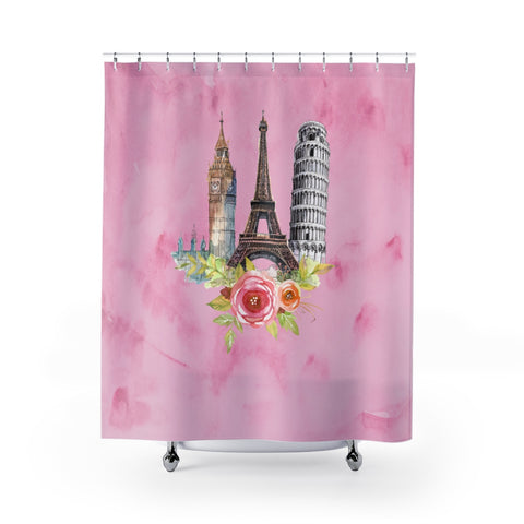 European Icons Shower Curtain - Pink