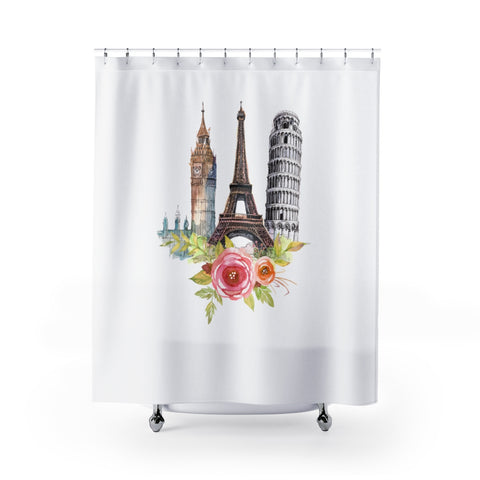 European Icons Shower Curtain - White