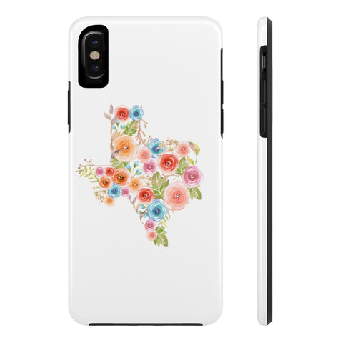 Texas Watercolor Flowers Case Mate Tough Phone Case