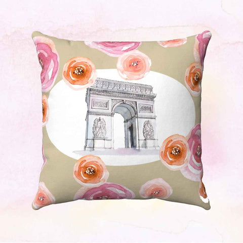 Arc de Triomphe Square Pillow Cover