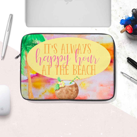 Happy Hour at the Beach Laptop Sleeve