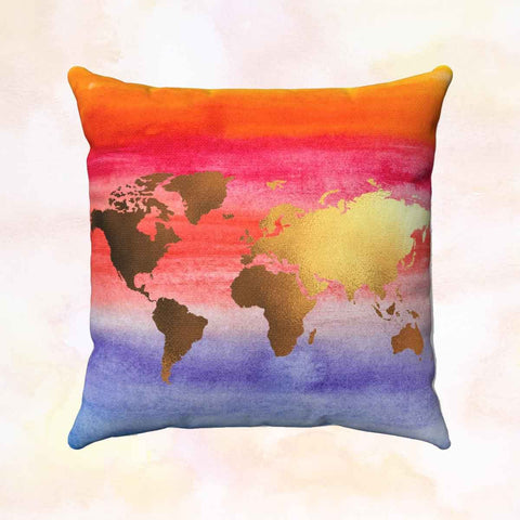 Colorful World + Europe Pillow