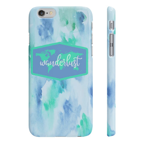 Wanderlust Slim Phone Case - Blue/Green