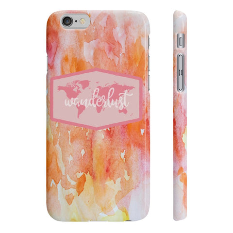 Wanderlust Slim Phone Case - Pink/Yellow/Red