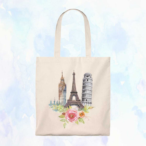 Europe Icons Vintage Tote Bag