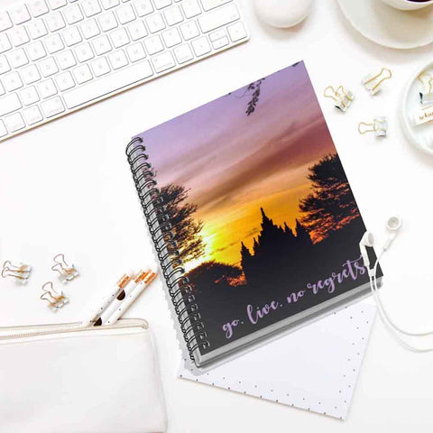 Go. Live. No Regrets. Spiral Notebook