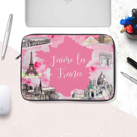 I Love France Laptop Sleeve