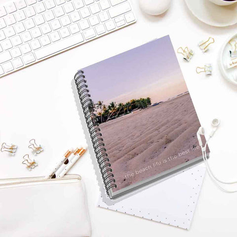 The Beach Life is the Best Life Spiral Notebook