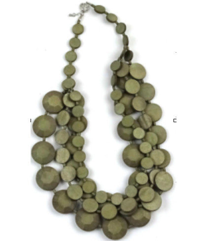 Necklace Fiorella 3D - grey