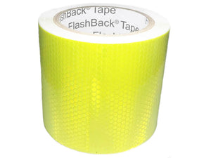 A Roll of 100mm Wide Hi Vis Yellow Reflective Tape