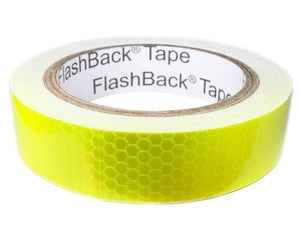 A Roll of 25mm / 1 inch Wide Hi Vis Yellow Reflective Tape