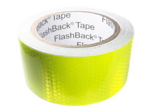 A Roll of 50mm / 2 inch Wide Hi Vis Yellow Reflective Tape