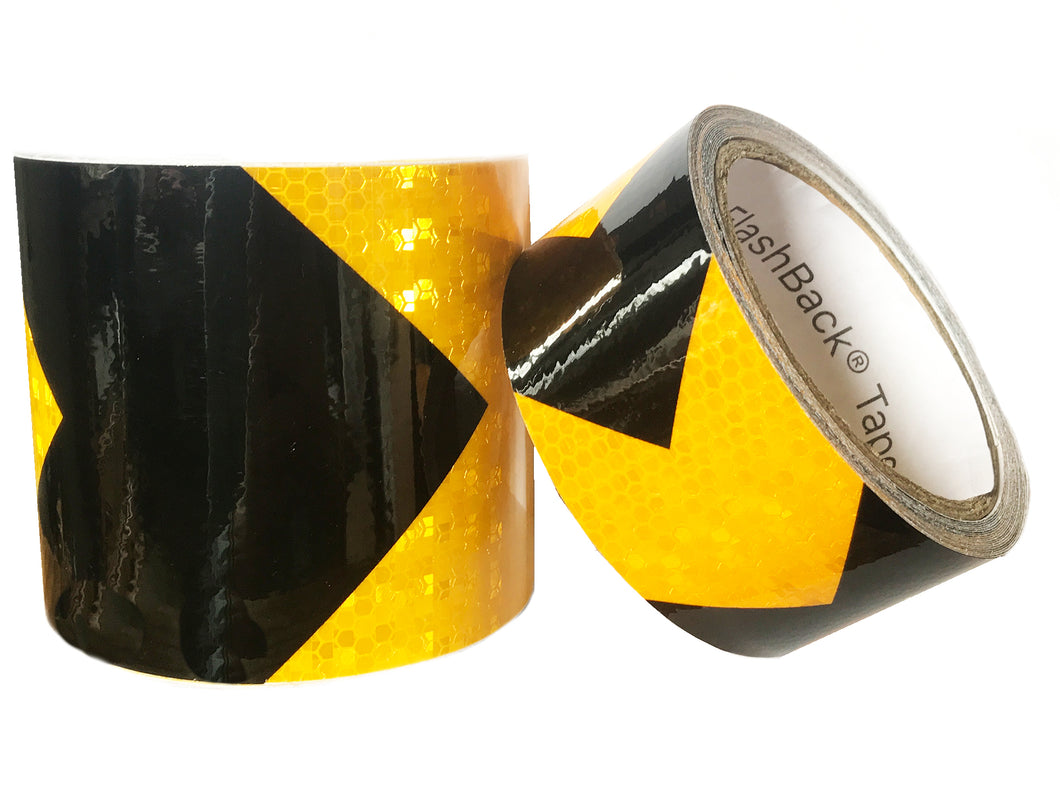 Black & Yellow Arrow Reflective Tape by FlashBack® Tape