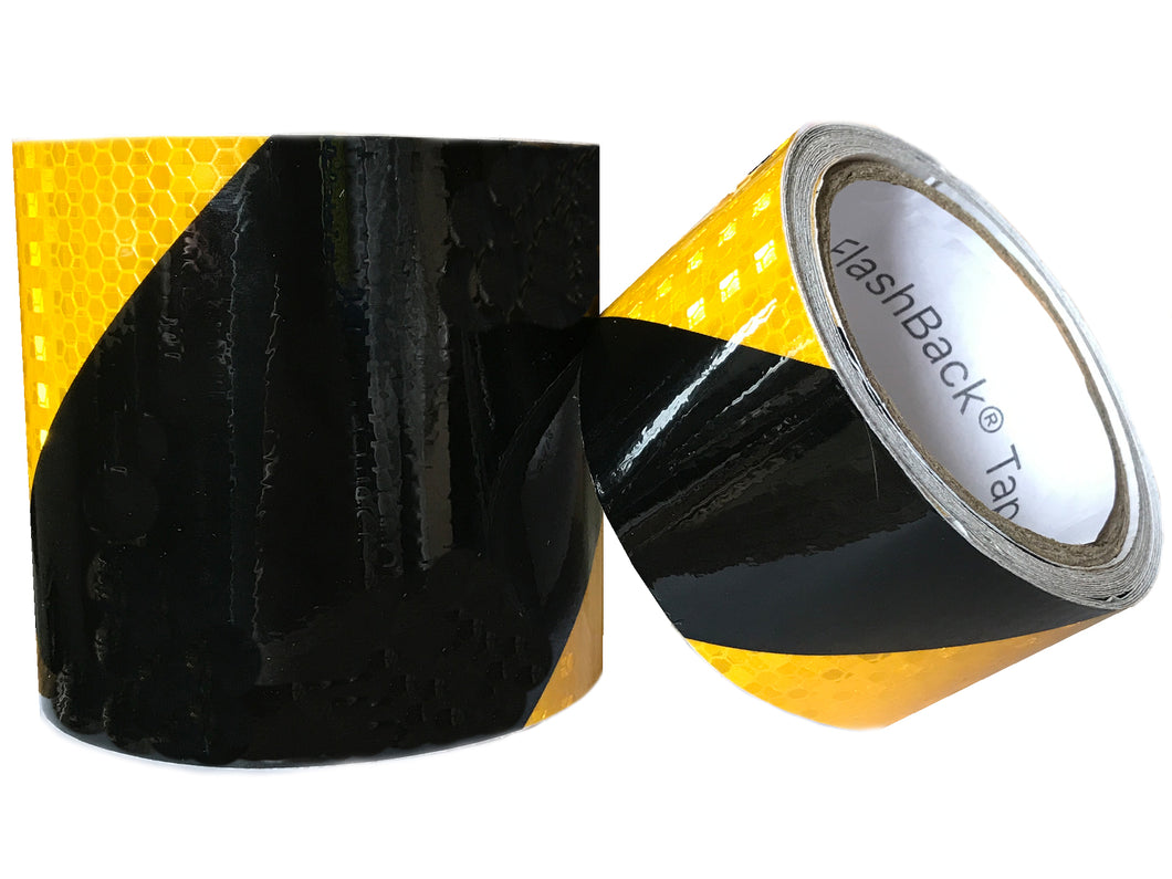 Black & Yellow Chevron Reflective Tape by FlashBack® Tape