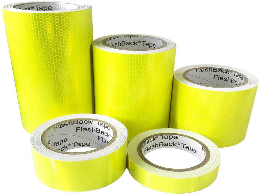 Hi Vis Yellow Reflective Tape by FlashBack Tape