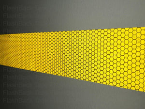 High Intensity Yellow Reflective Tape Strip in the Dark