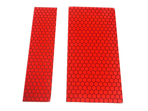 Red Glass Bead Reflective Strips