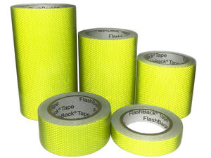 Hi Vis Lime Yellow Glass Bead Reflective Tape