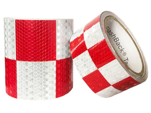 Red & White Checkered Reflective Tape by FlashBack® Tape