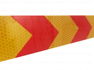 Red & Yellow Arrow Chevron 2 inch Reflective Tape