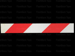 Red & Silver Chevron Glass Bead Reflective Tape